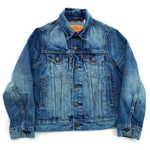 Levis Boys Denim Jean Jacket Size S Blue L/S
